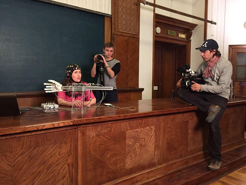 Съёмки фильма в лаборатории А.Я. Каплана (Факультет биологии, МГУ). 16 июля, 2015