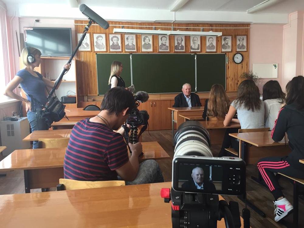 Владимир Бакуров на встрече со школниками. Фотография предоставлена Юлией Киселёвой