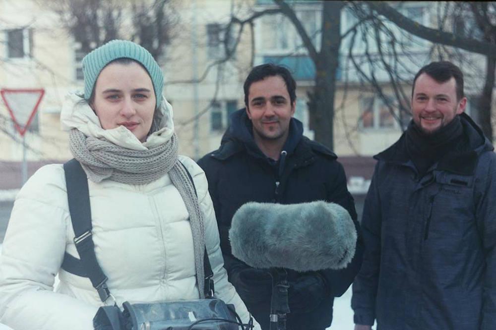 """Во время съёмок фильма """"Вильфред и Александра. Двойной портрет на фоне войны"""""""