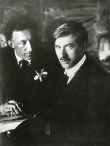 Александр Блок и Корней Чуковский. Август, 1921. Архив МАММ. Источник: russiainphoto.ru