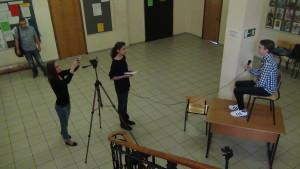 Сотрудники РосНоу  фиксируют процесс – не каждый день у студентов берут интервью. РосНоу, 21 июля, 2015.