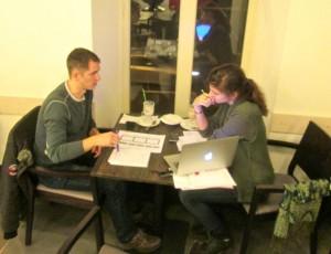 Александр Носков и редактор IA_RFI Дарья Бурлакова обсуждают будущий сайта realistfilm.info.