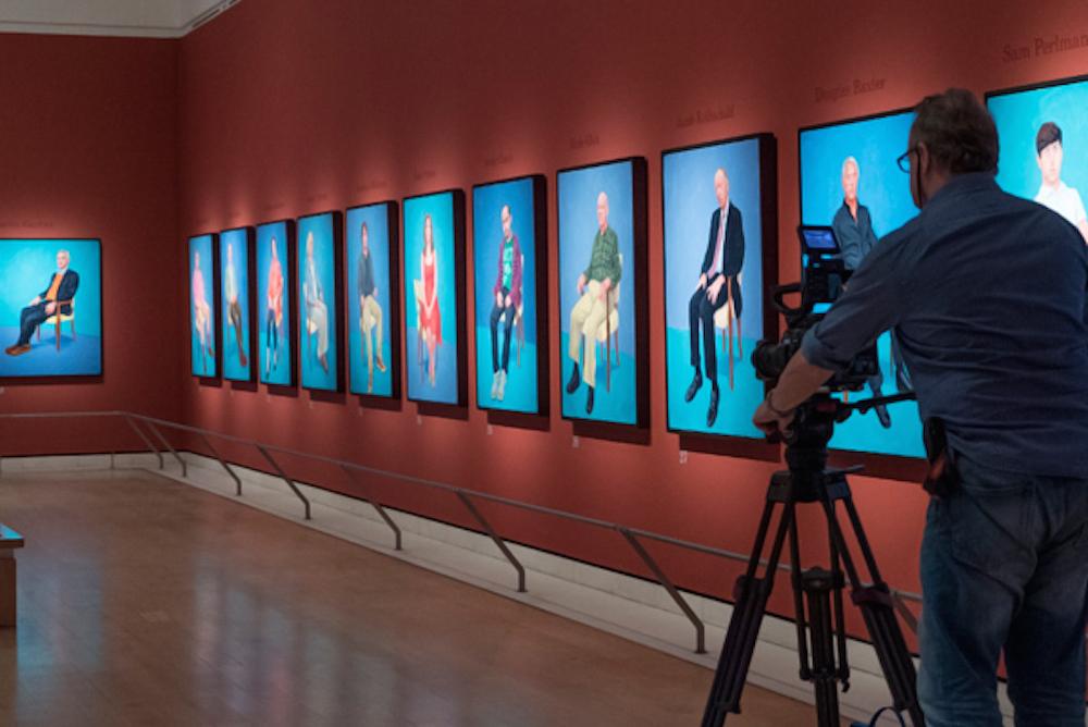 """Кадр из фильма """"Дэвид Хокни. Поп-арт в Королевской академии художеств"""""""