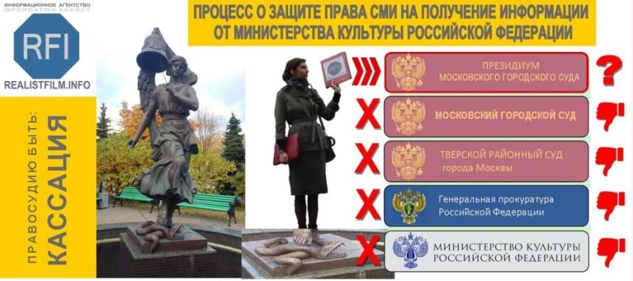 ИНФОРМАЦИОННОЕ АГЕНТСТВО REALISTFILM.INFO обжаловало решение Мосгорсуда