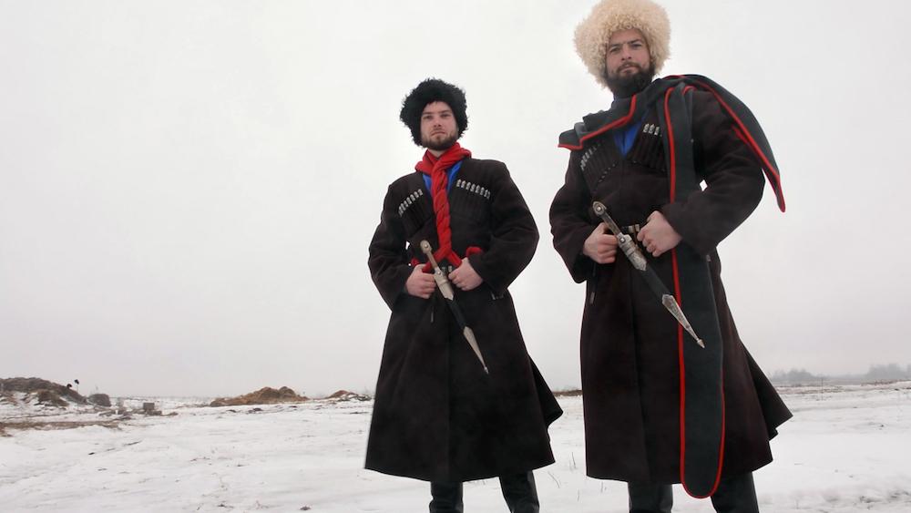 """Кадр из фильма """"Сказ о том, как два казака страну поднимали"""""""