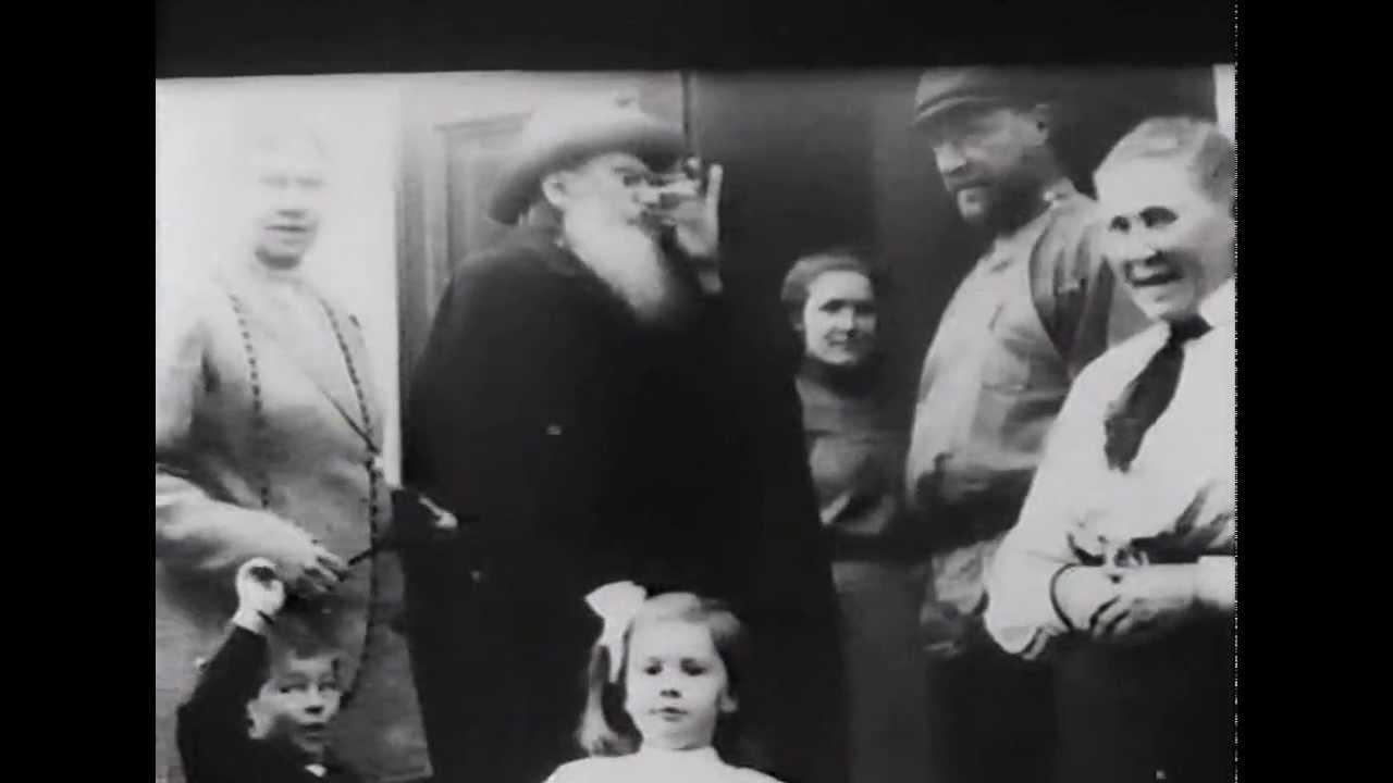 Фрагмент кинохроники Льва Толстого 1908-1910гг.