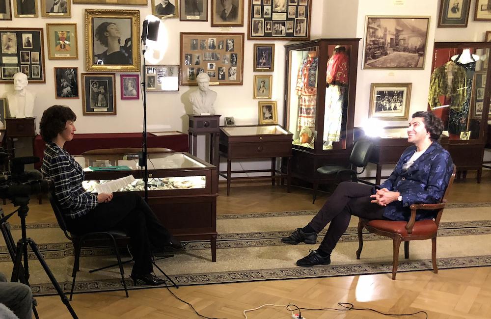 """Съёмки фильма """"Класс"""", запись интервью с Николаем Цискаридзе."""